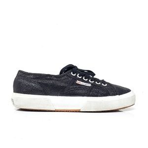 Superga Black Sparkly Canvas Sneakers